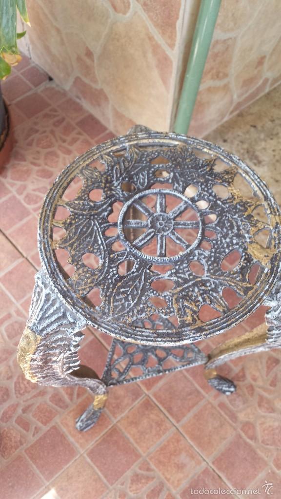 Antigüedades: jarron y soporte en bronce - Foto 5 - 59669075