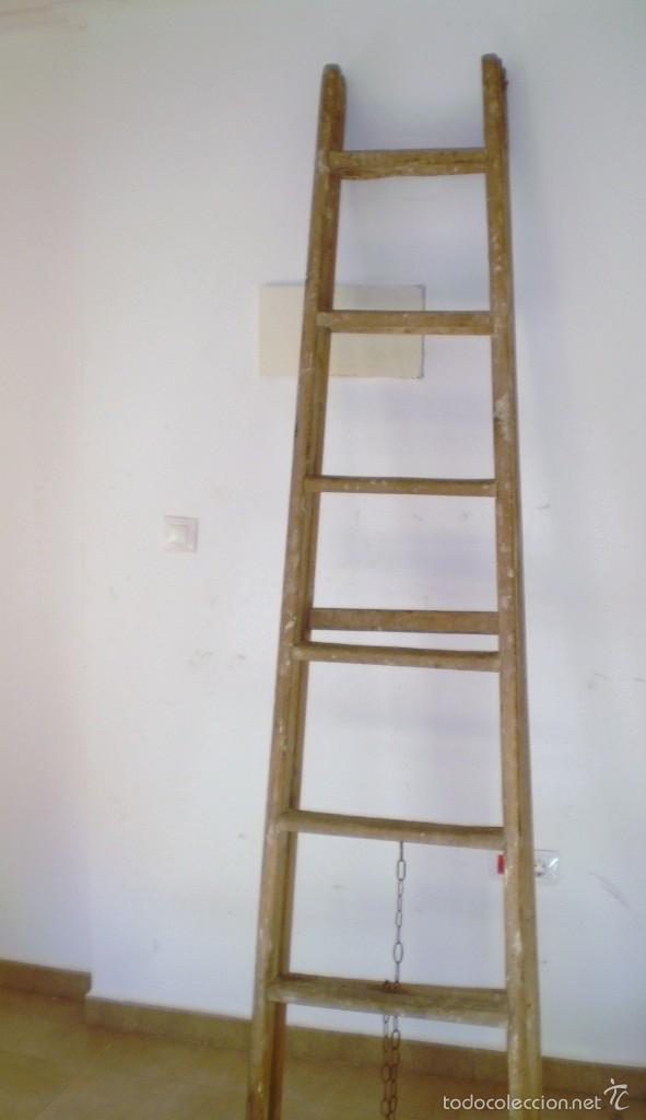 antigua escalera grande de madera ideal uso dec comprar