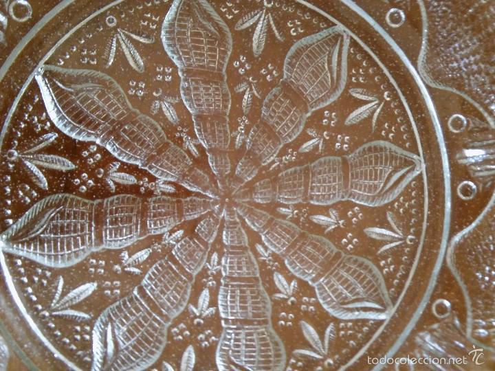 Antigüedades: Plato de cristal prensado. Santa Lucía, Cartagena. 21cm diámetro. - Foto 2 - 59681111