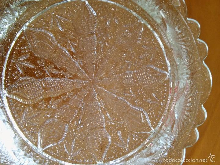 Antigüedades: Plato de cristal prensado. Santa Lucía, Cartagena. 21cm diámetro. - Foto 4 - 59681111
