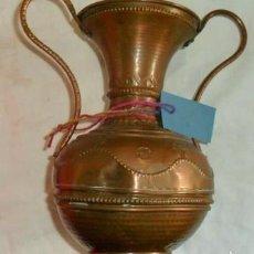 Antigüedades: ANTIGUO FLORERO DE COBRE. Lote 59684335