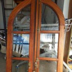 Antigüedades - Ventanas de madera pino melis de medio punto - 59707991
