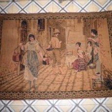 Antigüedades: ANTIGUO Y BELLO TAPIZ COSTUMBRISTA - GRAN FORMATO.. Lote 59711655