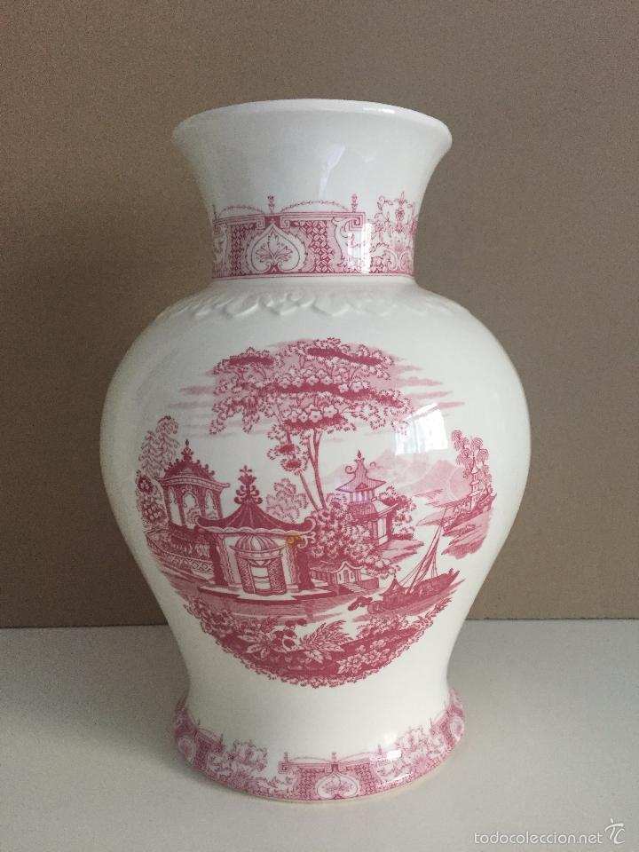 jarron grande de ceramica de la cartuja pickman sevilla sellado antigedades porcelanas y