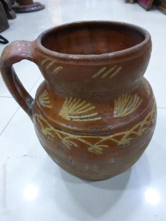 ANTIGUA PRIMITIVA JARRA ALBENSE VIDRIADA PRECIOSA DECORACIÓN-ORIGINAL S.XIX ALBA DE TORMES-SALAMANCA (Antigüedades - Porcelanas y Cerámicas - Otras)