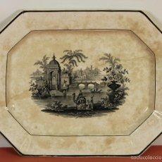 Antigüedades: BANDEJA EN PORCELANA ESMALTADA. PICKMAN. SEVILLA. PRINCIPIO SIGLO XX. . Lote 59739416