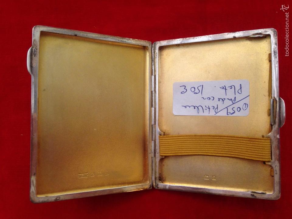 Antigüedades: Pitillera de plata art-deco - Foto 3 - 59741304