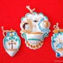 Antigüedades: ANTIGUAS BENDITERAS FINAMENTE DECORADAS DE LIPARI. Lote 59767616