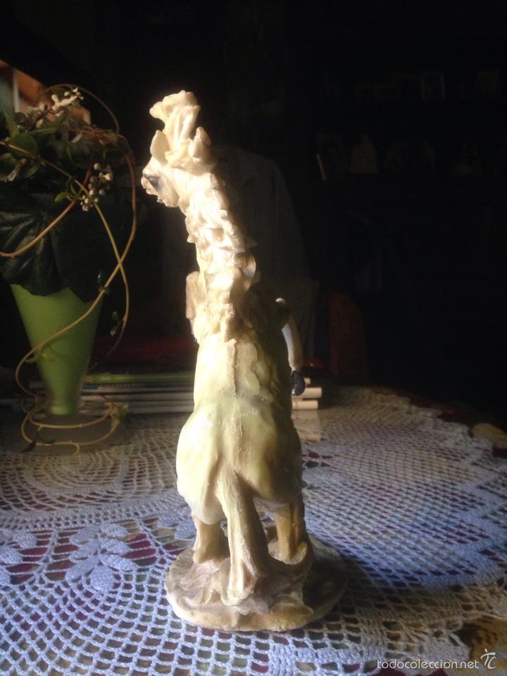 """Antigüedades: Escultura de caballo salvaje, """"Libertad"""",alabastro - Foto 3 - 59779321"""