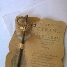Antigüedades: ESPADA EN MINIATURA. Lote 109527372