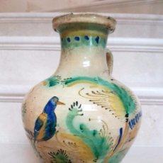 Antigüedades: PRECIOSO CANTARO VIDRIADO DE PUENTE DEL ARZOBISPO,(TOLEDO),S. XIX. Lote 59786212