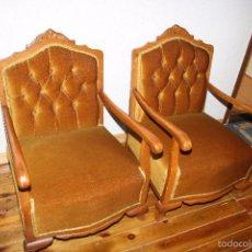 Antigüedades: PAREJA DE SILLONES DESCALZADORAS EN BUEN ESTADO.. Lote 59793088