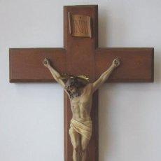 Antigüedades: CRUCIFIJO - CRISTO DE TRES CLAVOS. Lote 166232640
