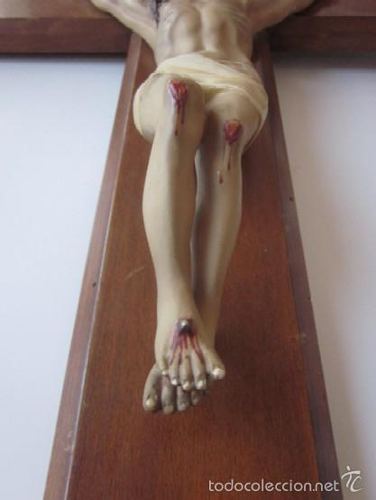 Antigüedades: CRUCIFIJO - CRISTO DE TRES CLAVOS - Foto 4 - 166232640