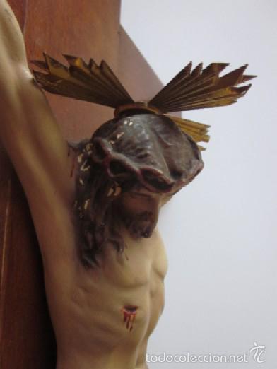 Antigüedades: CRUCIFIJO - CRISTO DE TRES CLAVOS - Foto 6 - 166232640