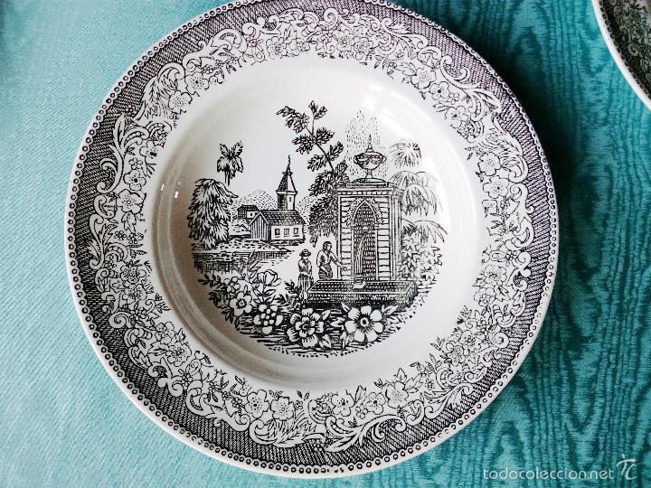 Antigüedades: 6 platos hondos vajilla Vargas- Segovia - Foto 3 - 59868164