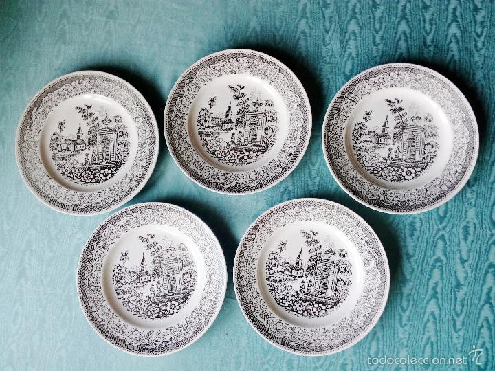 5 platos llanos vajilla Vargas - Segovia, usado segunda mano
