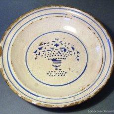 Antigüedades: PLATO CERÁMICA ARAGONESA DE MUEL XIX. Lote 59877431