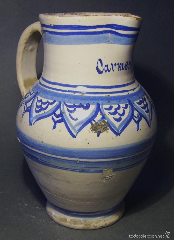 JARRA CERÁMICA ARAGONESA DE MUEL XIX (Antigüedades - Porcelanas y Cerámicas - Teruel)