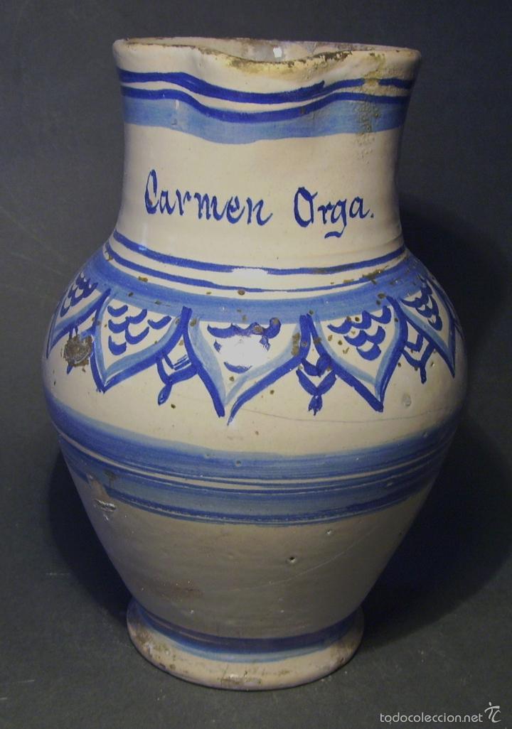 Antigüedades: JARRA CERÁMICA ARAGONESA DE MUEL XIX - Foto 4 - 59877471