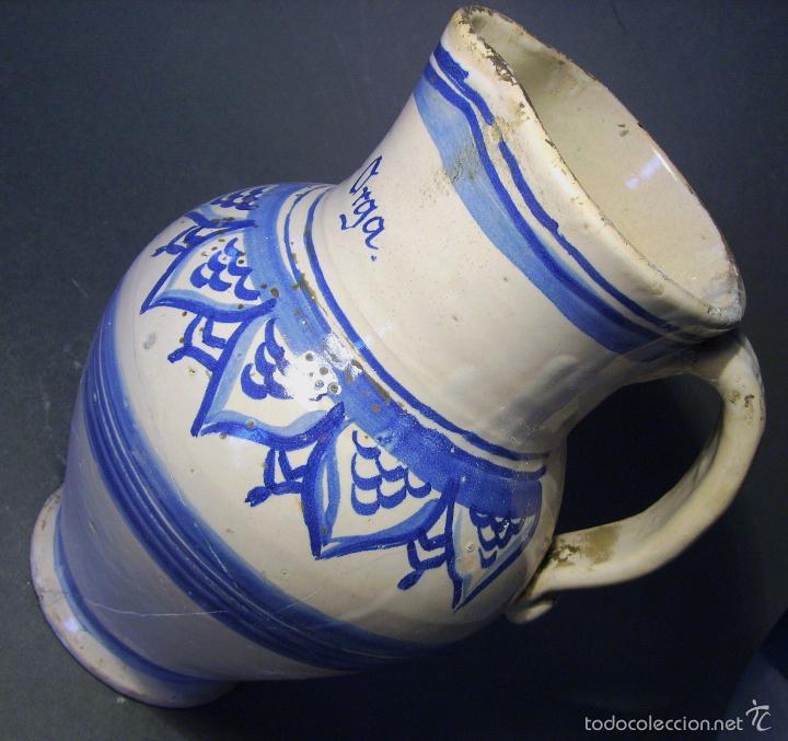 Antigüedades: JARRA CERÁMICA ARAGONESA DE MUEL XIX - Foto 8 - 59877471