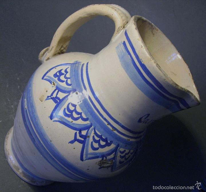 Antigüedades: JARRA CERÁMICA ARAGONESA DE MUEL XIX - Foto 9 - 59877471