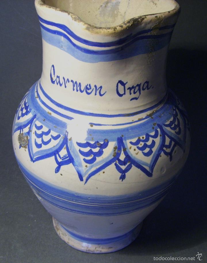 Antigüedades: JARRA CERÁMICA ARAGONESA DE MUEL XIX - Foto 10 - 59877471