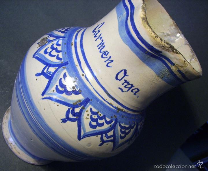 Antigüedades: JARRA CERÁMICA ARAGONESA DE MUEL XIX - Foto 13 - 59877471