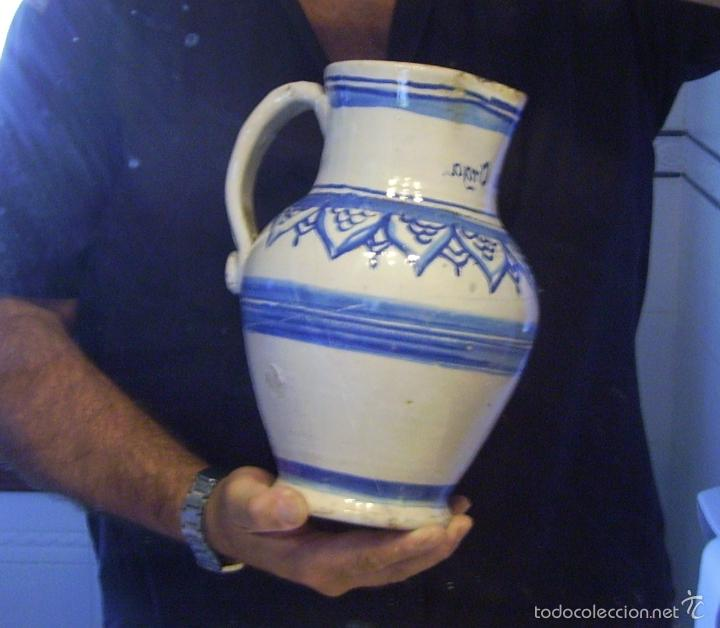 Antigüedades: JARRA CERÁMICA ARAGONESA DE MUEL XIX - Foto 15 - 59877471