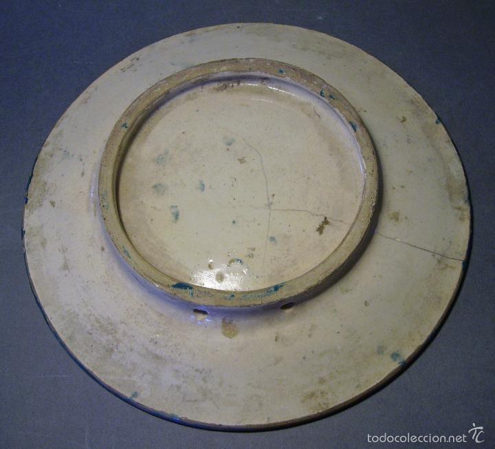 Antigüedades: PLATO CERÁMICA DE CUERDA SECA TRIANA XIX - Foto 8 - 59877527