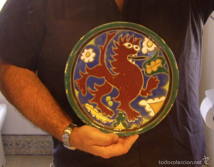 Antigüedades: PLATO CERÁMICA DE CUERDA SECA TRIANA XIX - Foto 9 - 59877527