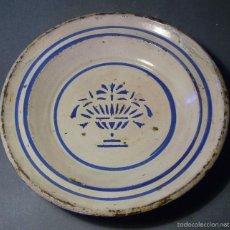 Antigüedades: PLATO CERÁMICA ARAGONESA DE MUEL XIX. Lote 59879051