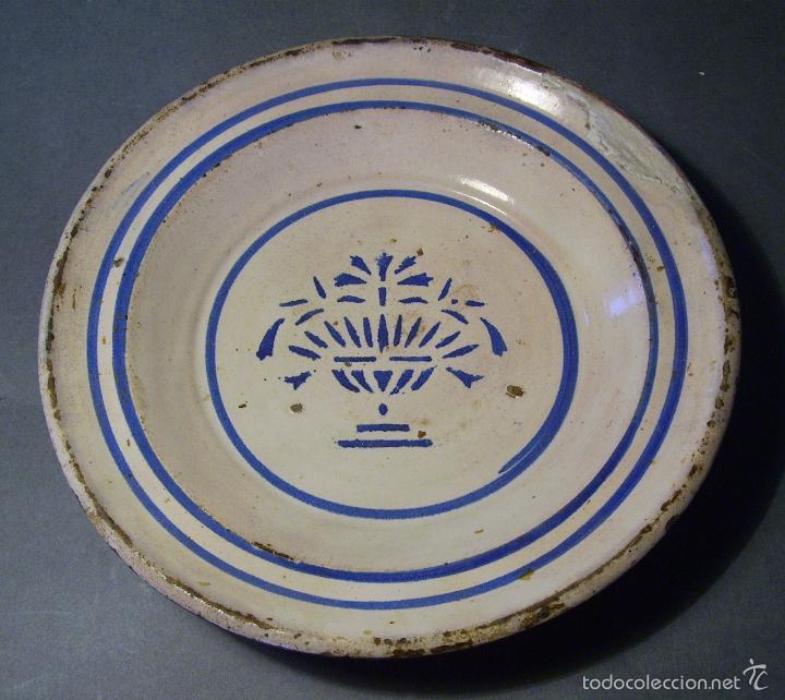 Antigüedades: PLATO CERÁMICA ARAGONESA DE MUEL XIX - Foto 2 - 59879051