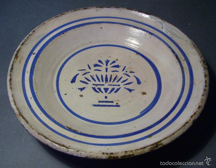 Antigüedades: PLATO CERÁMICA ARAGONESA DE MUEL XIX - Foto 3 - 59879051