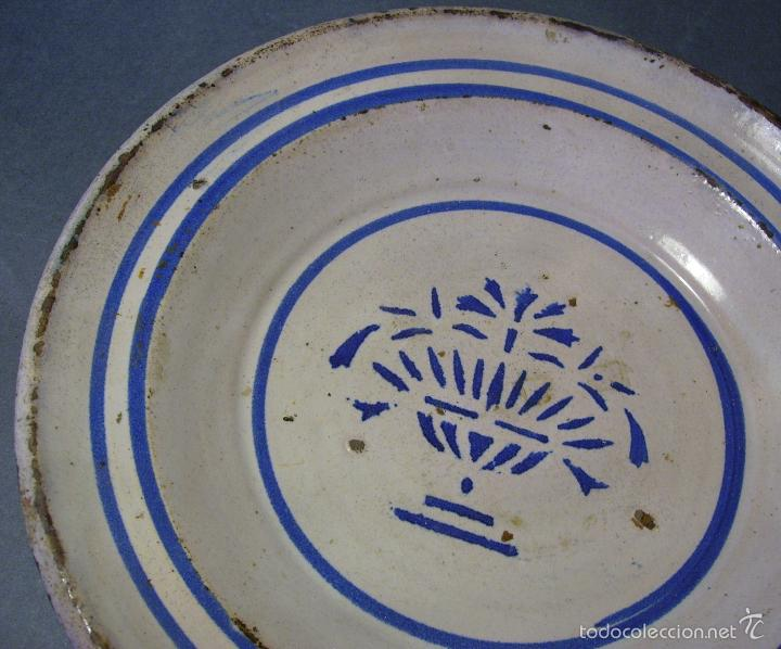 Antigüedades: PLATO CERÁMICA ARAGONESA DE MUEL XIX - Foto 4 - 59879051