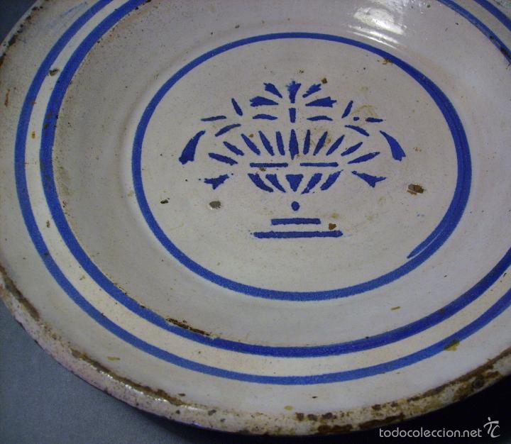 Antigüedades: PLATO CERÁMICA ARAGONESA DE MUEL XIX - Foto 6 - 59879051