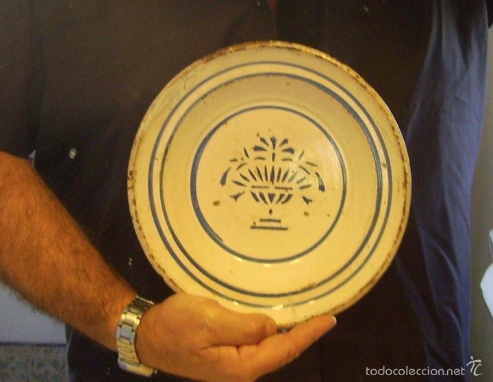 Antigüedades: PLATO CERÁMICA ARAGONESA DE MUEL XIX - Foto 9 - 59879051