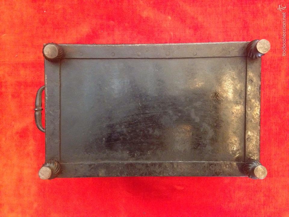 Antigüedades: Cofre joyero de hierro del siglo XVIII - Foto 3 - 59887275