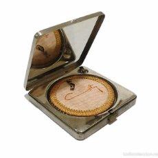 Antigüedades: ANTIGUA POLVERA EN METAL CROMADO COTY PARIS - ART DECO AÑOS 30-40. Lote 59941591