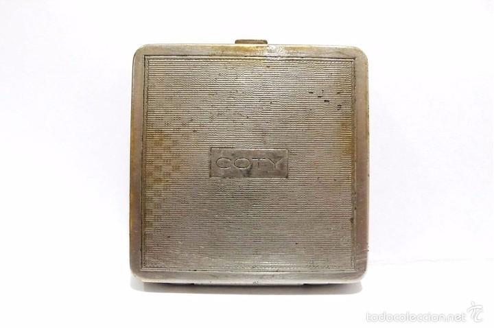Antigüedades: ANTIGUA POLVERA EN METAL CROMADO COTY PARIS - ART DECO AÑOS 30-40 - Foto 3 - 59941591