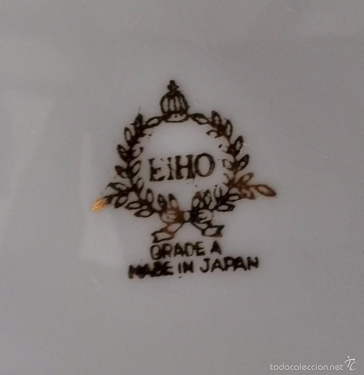 Antigüedades: PLATO DE PORCELANA JAPONESA . EIHo .ceramica 26cm - Foto 4 - 59968151