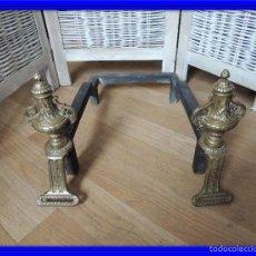 Antigüedades: MORILLOS IMPERIO DE CHIMENEA UNIDOS. Lote 59976711