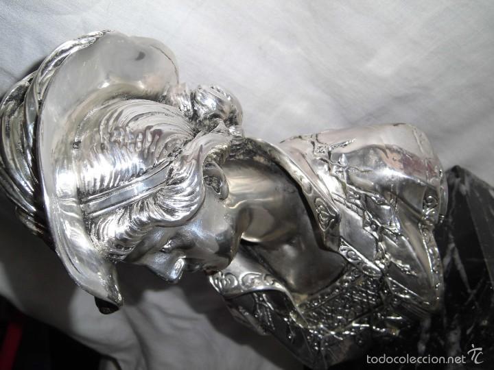 Antigüedades: BONITO BUSTO DE MUJER BAÑADO EN PLATA DE LEY BASE DE MARMOL - Foto 6 - 59977571