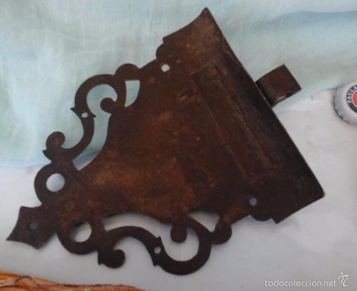 Antigüedades: CENTENARIA CERRADURA DEL SIGLO XVIII. ESPECTACULAR. FORJA ANTIGUA: - Foto 3 - 59996619