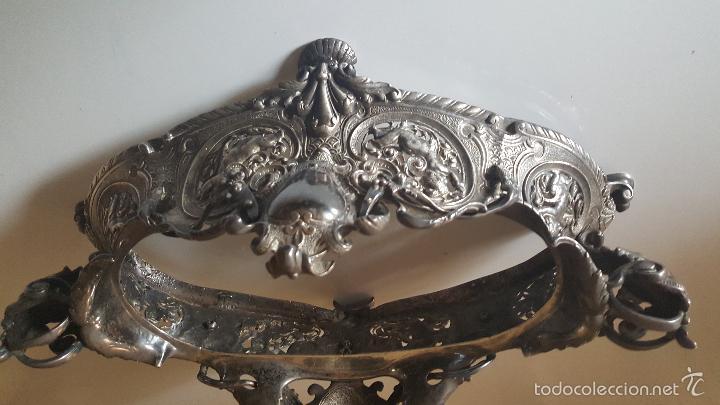 Antigüedades: CENTRO MESA BAÑO DE PLATA - Foto 12 - 41250404