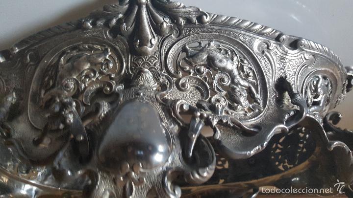 Antigüedades: CENTRO MESA BAÑO DE PLATA - Foto 14 - 41250404