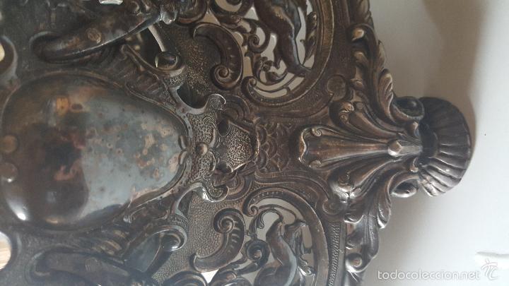 Antigüedades: CENTRO MESA BAÑO DE PLATA - Foto 18 - 41250404