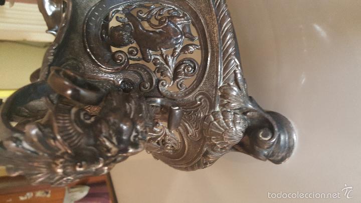Antigüedades: CENTRO MESA BAÑO DE PLATA - Foto 22 - 41250404