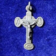 Antigüedades: BONITA CRUZ ANTIGUA EN PLATA LOURDES. Lote 60135527