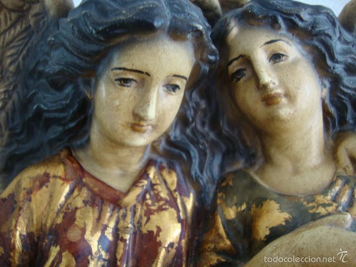 Antigüedades: Antigua Benditera policromada - Foto 2 - 60145415